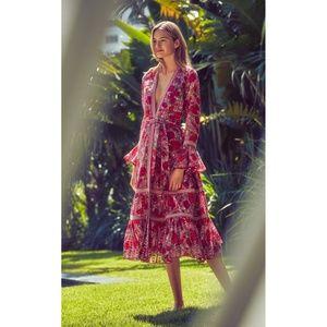 Alexis Marcas Spring 2019 Fuchsia Bouquet dress